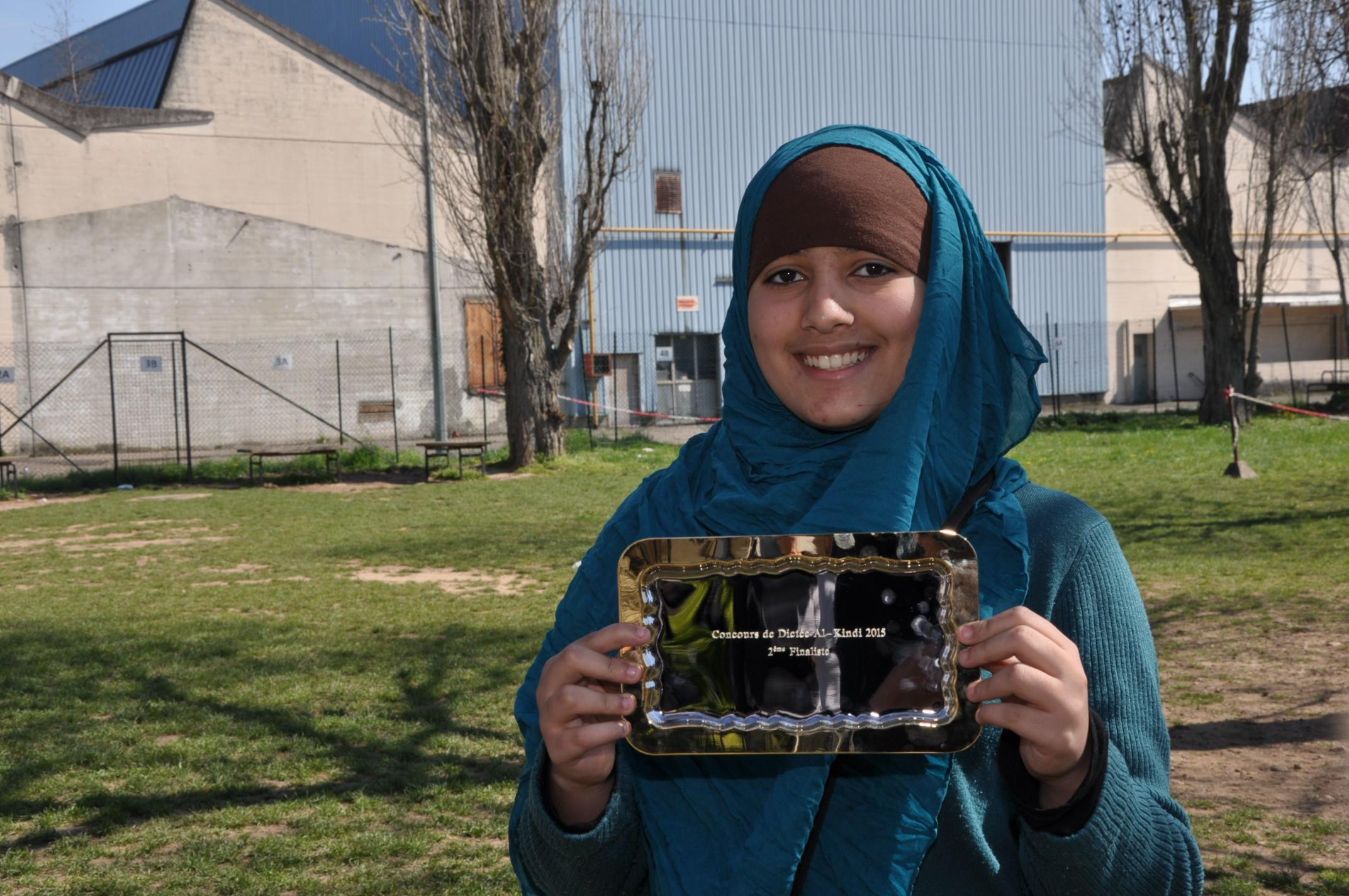 Fierté d'une élève arrivée 1ère finaliste du concours de dictée de français- Mars 2015