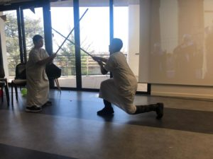 Représentation de lutte égyptienne- préparée par les documentalistes
